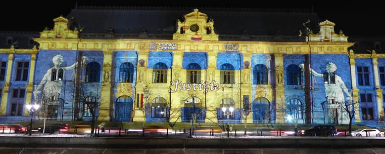 Adalet Sarayı - Işık Festivali Bükreş