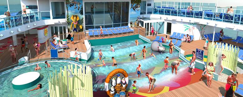 Çocuk Havuzları ve Güneşlenme Alanları - Quantum of the Seas