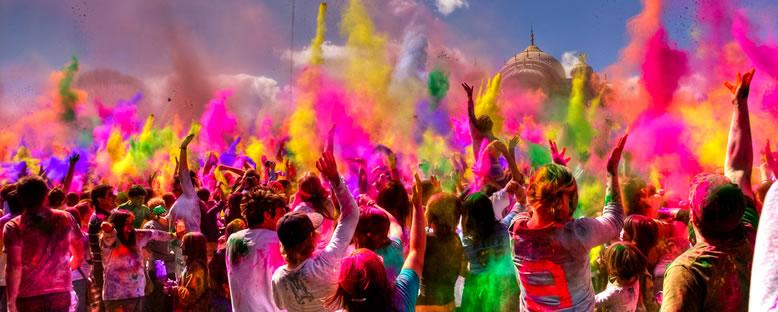 Holi Festivali Kutlamaları - Hindistan