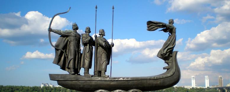 Şehrin Kurucuları Heykeli - Kiev