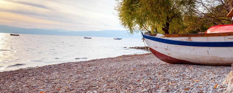 Sahilde Gün Batımı - Ohrid