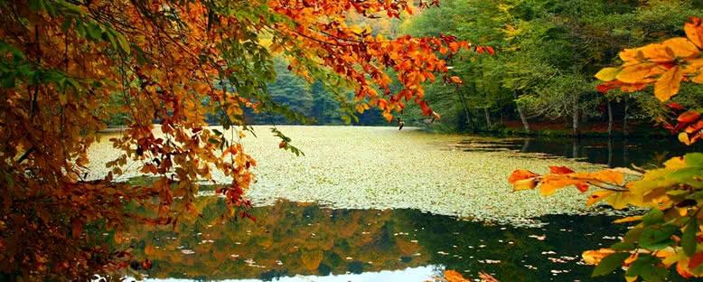 Sonbaharda Göl Manzarası - Yedigöller