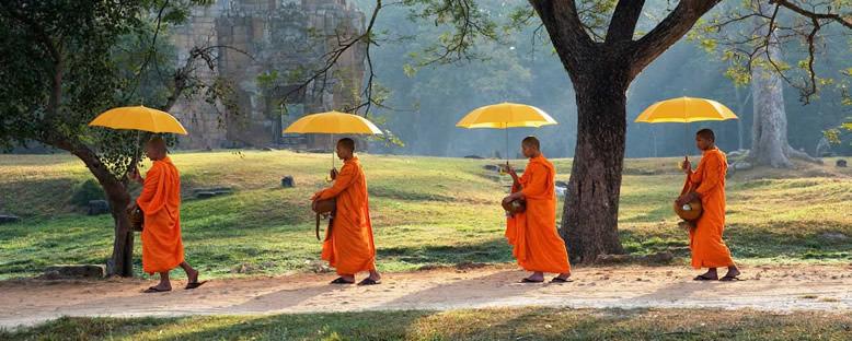 Keşişleri Yürüyüşü - Siem Reap