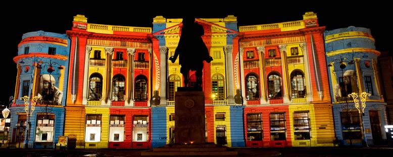 Üniversite Kütüphanesi - Işık Festivali Bükreş